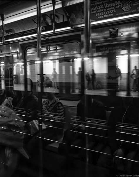 Riding the Train (NYC, 2015), by Theresa Groth,